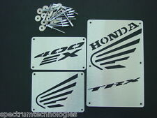 HONDA TRX 400 400EX TRX400EX EX TRX400 CUSTOM WARNING LABEL COVERS TAGS PLATES