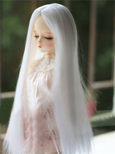 1/3 BJD Doll SD Wig Dollfie DZ DOD LUTS White Part Bangs Long Straight Toy Hair