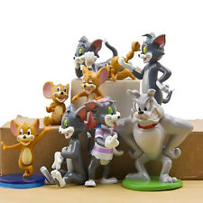 New Hot Tom and Jerry Action Figures Cat Mouse Dog Animals Game Toy 9pc Set Gift