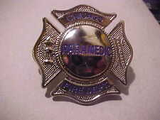 CHICAGO FIRE DEPARTMENT PARAMEDIC CAP BADGE  SCARCE