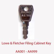 Lowe & Fletcher Replacement Filing Cabinet Key AA001 - AA999