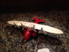 VINTAGE WYANDOTTE 1930s PRESSED STEEL HIGH WING MONOPLANE AIRPLANE TOY PLANE