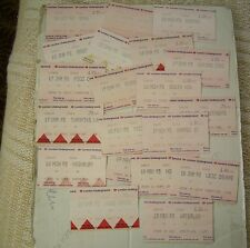 LONDON UNDERGROUND TICKETS x 20 DIFFERENT 1990's