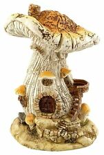 Mushroom Fairy House (4505) Natural Top Collection Miniature Fairy Garden New
