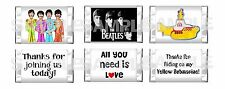 90 RETRO FAB FOUR 4 BEATLES Birthday Party Mini Candy Bar Wrappers PARTY FAVORS