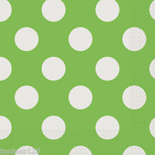 16 Polka Dots Spots Luncheon Paper Napkins Party Supplies Tableware 6 Colours