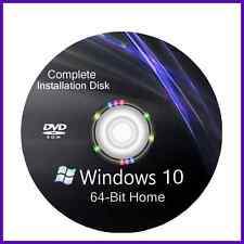 Windows 10 64 bit install reinstall refresh recovery repair DVD Disc Support