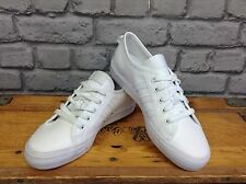 ADIDAS LADIES UK 4 EU 36 2/3 LO WHITE LEATHER NIZZA TRAINERS RRP £55