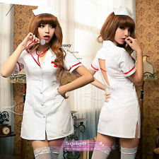 New Brand Sexy Lingerie white doctor nurse halloween costume funny dress outfit