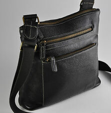 ROOTS LEATHER Vintage Brown Cross Body Bag | Leather Travel Bag | Free Shipping