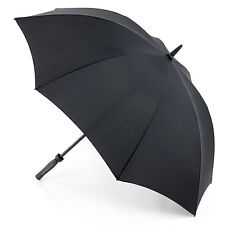 Fulton Technoflex Mens Walking Length Extra Wide Canopy Umbrella in Black