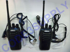 Acoustic Tube Headset & 2 Way Radio/Walkie Talkie Package for Security Staff