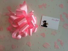 Cellophane gift wrap 2m x 80 cm-Pink Baby Girl FREE PULL BOW & CARD