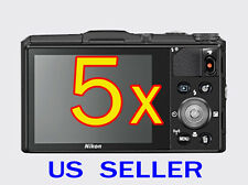 5x Nikon Coolpix S9700 Digital Camera Clear LCD Screen Protector Guard Shield