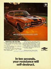 1970 CHEVROLET CHEVELLE SS 396 A3 POSTER AD ADVERT ADVERTISEMENT SALES BROCHURE