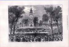 1876 l'Independence Hall Philadelphie quart de juillet Festival du centenaire