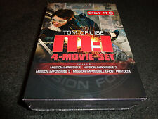 MISSION:IMPOSSIBLE 4-Movie Set-MI 1 to 3 &  GHOST PROTOCOL-Spanish subtitles