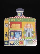 "Melamine Cutting Board Italy ""Home Sweet Home"" 10 x 12"