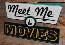 MEET ME AT THE MOVIES Metal Theater Ticket Cinema Coke Candy Pepsi Movies DVD