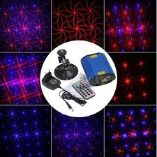 Mini Blue & Red Club Party Disco DJ Projector Voice Control Laser Stage Lighting