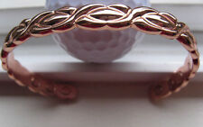 Solid Copper Magnetic 8 Inch Cuff  Men's Bracelet 285 -  With 6 Magnets