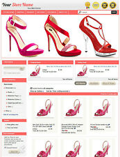 eBay Professional Design Listing Template and Store Layout Theme pink shoes