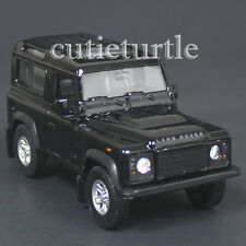 "4.25"" Welly Land Rover Defender Diecast Toy Car Black"