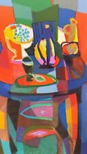 "Marcel Mouly Lithograph ""Le Compotier Bicolore"" - Stunning colors and frame"