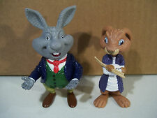 LOT OF 2 HOP THE MOVIE PVC FIGURES E.B. BUNNY, MR. BUNNY DAD FIGURE