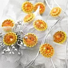 Prima Marketing SULTAN - Yellow Gemstome FLOWER CENTER 10pc 535094