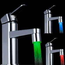 Novelty 7 Color RGB Colorful LED Light Water Glow Faucet Tap Head New FE