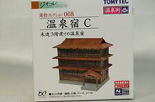 """Tomytec n scale Building 068 """"Hot Spring Hotel C"""" 3 story Japanese Wooden Hotel"""