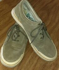 TOMMY BAHAMA Relax Collection Men's Olive Breathable Oxford/Boat Shoes Size 14