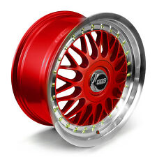 BBS RS Alloy Wheels Rim Sports Mags 17X8 8 Stud 5x100 Sets of 4 MI RED