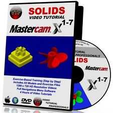 MASTERCAM X1-X7 SOLIDS Video Tutorial HD QUALITY Training Course X2 X3 X4 X5 X6