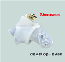Clear Silicone spikes Bondage Male Chastity Dick Cage Fixed 45mm Ring New A140-1