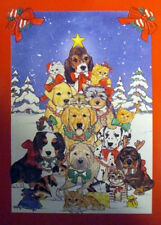 """Dogs And Cats Winter Large House Flag 28"""" X 40"""""""
