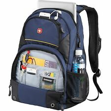 "New Wenger Alpine Blue 17"" Laptop / MacBook Pro Backpack, Swissgear Laptop Bag"