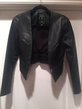 Guess Women's Jacket -  leather jacket with Zip Off Rise