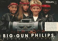 X0584 Big-Gun Philips radio recorder - Pubblicità del 1989 - Vintage advertising