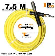 7.5 M Hi-viz Manguera con PCL tipo de liberación rápida de acoplamiento & PCL Tipo Cola - 300PSI