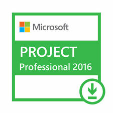 Microsoft Project Professional 2016 Full 1 User - Refund Guarantee