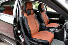 Car Seat Cushion Brown Black Needlework PU Leather for RAV4 Focus 308