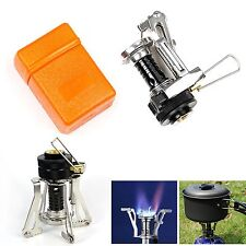 Ultralight Mini Backpacking Canister Outdoor Camping Stove Burner Piezo Ignition
