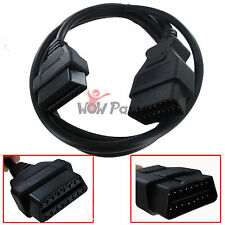 OBD-II OBD2 Auto Car Male to Female Extension Cable Diagnostic Extender 5ft New