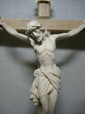 Catholic Cross - Crucifix from Italy - Hand Carved of Solid Wood