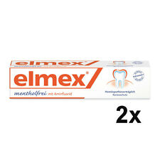 Elmex Menthol-free Toothpaste - 2x 75 ml  - Medical Toothpaste - Origin Germany