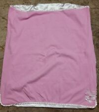 NFL Green Bay Packers pink satin trim Baby girls Blanket