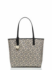 Authentic Kate Spade New York Broome Pinwheel Court Tanner Tote - Crisplinen