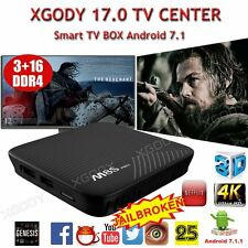 XGODY Smart Android 7.1 Nougat TV BOX Center 17.0 Octa Core 3+16 DDR4 4K Movies+